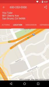 reverse lookup map screen